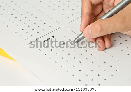 Answer Sheet - stock photo