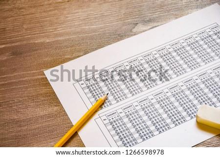 Answer sheet. mark sheet.