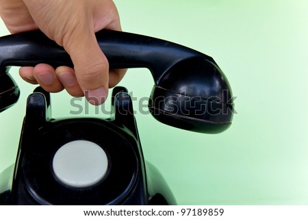 answer the telephone