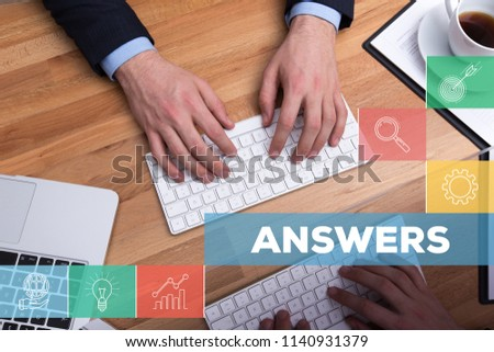 ANSWERS AND WORKPLACE CONCEPT
