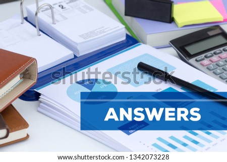 ANSWERS AND WORKPLACE CONCEPT #1342073228