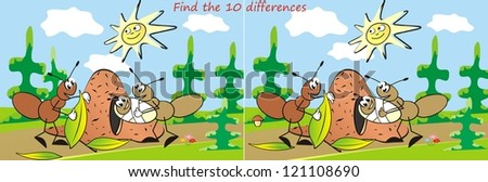 ant, find ten differences