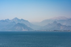 Antalya coastline view from old marina bay