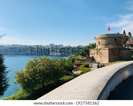Antalya'nın tarihi kalesi, mükemmel açı Stok fotoğraf ©