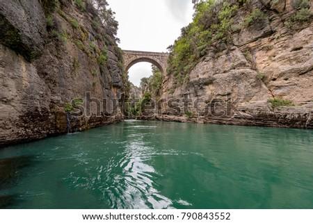 Antalya - Turkey. May 01, 2017. Koprulu Canyon, Manavgat, Antalya - Turkey.