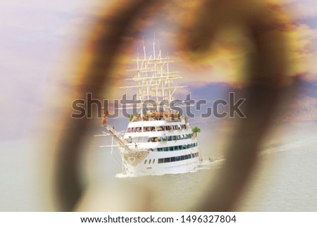 Antalya, Turkey-May,16,2018. Recreational yachts in the Turkish port. The concept of tourism, recreation and travel. #1496327804