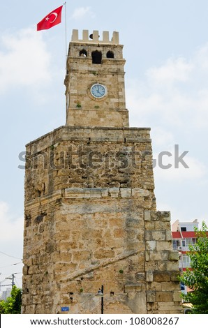 Antalya, Turkey - old town - Clock Tower