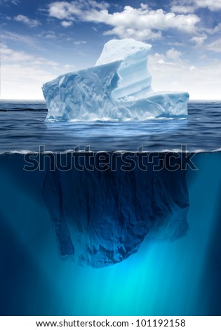 Stock Photo Antarctic iceberg in the ocean. Beautiful polar sea background.