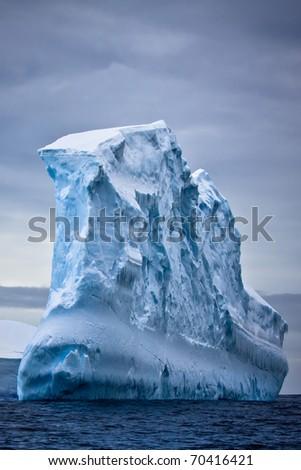 Antarctic iceberg in the snow