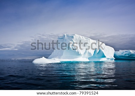 Antarctic iceberg in the snow