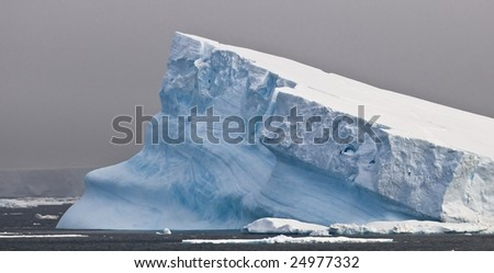 Antarctic iceberg - tilted