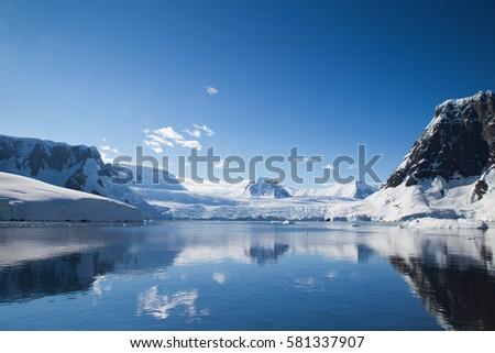 Antarctic landscape, inside Lemaire Channel.