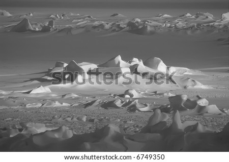Antarctic snowfield