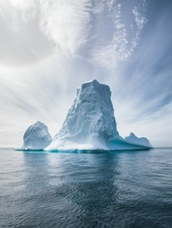 Antarctica and Iceberg landscape detail of various forms and sizes in the polar regions of earth