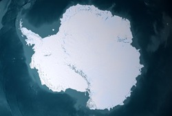 Antarctica from space, mainland. Elements of this image were furnished by NASA