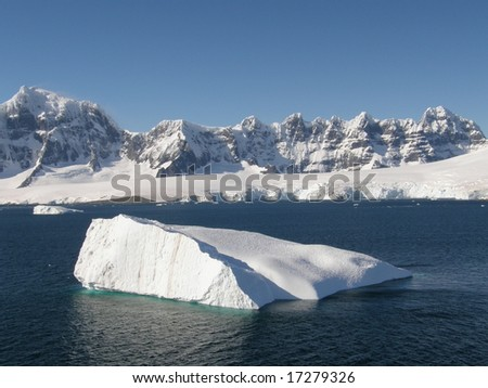 Antarctica peaks and iceberg in Neumaier Channel