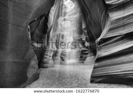Antelope Canyon, lights and colors on the rocks, Arizona, Usa.