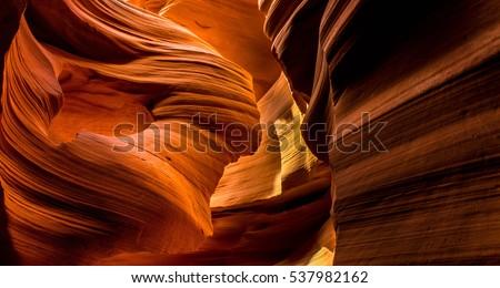 Antelope Canyon - slot canyons in Page Arizona.