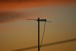antenna hanging on bamboo in late afternoon Valença state of Rio de Janeiro
