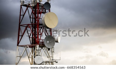 Antennas for radio, television and telephone communications