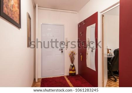Anteroom interior design, ornaments and doors #1061283245