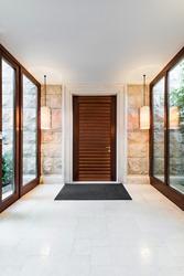 Anteroom interior in modern villa or luxury hotel