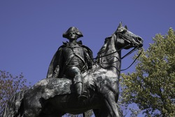 Anthony Wayne statue close up at Valley Forge National Historical Park by Henry K. Bush-Brown