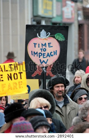 Anti Iraq War Protest, Ithaca, New York