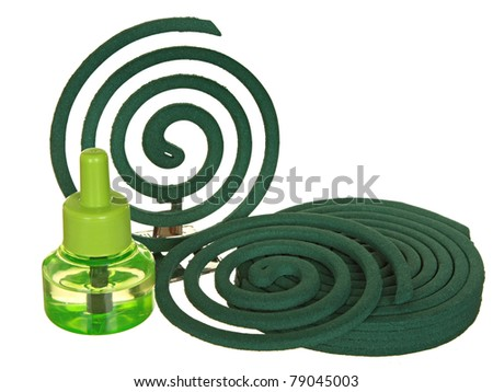 Anti-mosquito fumigator a liquid and a spiral from mosquitoes