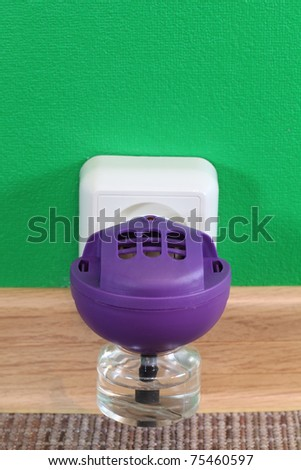 Anti-mosquito fumigator in wall outlet