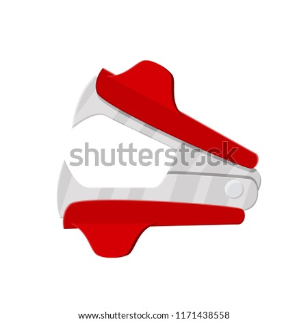 Anti stapler icon on white background. Office and school equipment, stationery. illustration in flat style Raster version.
