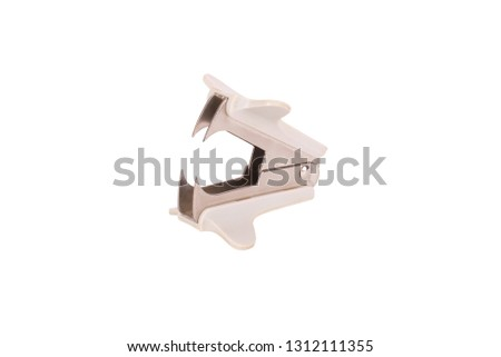 anti-stapler, on a white background, isolated.