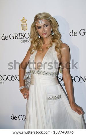 ANTIBES, FRANCE - MAY 21:  Paris Hilton attends the de Grisogono Party during the 66th International Cannes Film Festival at Hotel Du Cap on May 21, 2013 in Antibes, France.