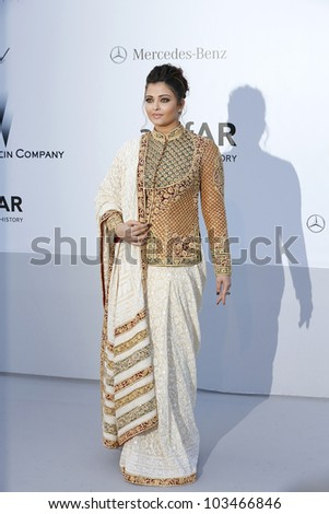 ANTIBES  - MAY 24: Aishwarya Rai at the 2012 amfAR's Cinema Against AIDS at Hotel Du Cap on May 24, 2012 in Antibes, France