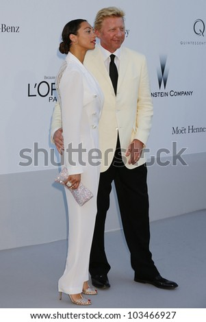ANTIBES  - MAY 24: Boris Becker, Lilly Becker at the 2012 amfAR's Cinema Against AIDS at Hotel Du Cap on May 24, 2012 in Antibes, France