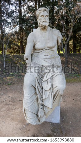 Antik kenti Claros (klaros) kalıntıları. Claros, Apollon'un ünlü tapınağı ve kâhinidir (Tanrı Apollon, Anadolu'daki iki büyük kehanet merkezinden biridir) Stok fotoğraf ©