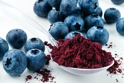 Antioxidant rich Blueberry Powder made freeze dried super food and hand picked wild Nordic berry dry blueberry powder Healthy and trendy food from nature