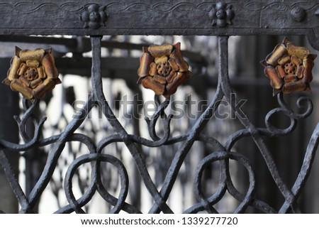 Antique ancient steel metal yellow rose flower, home decoration backgrounds, attractive picture