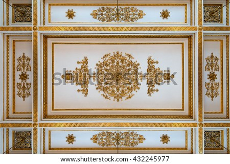 Antique and baroque ceiling