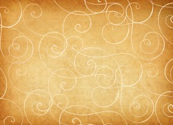 Antique background with whimsical swirls.