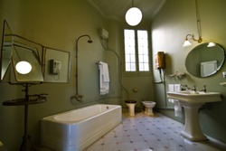 antique bathroom from the 19th century