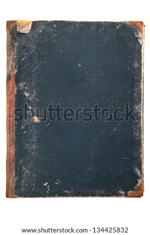antique book cover isolated on white background