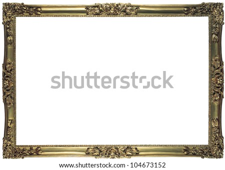 antique bronze frame for a picture isolated