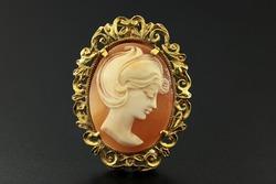 Antique cameo with ladies face