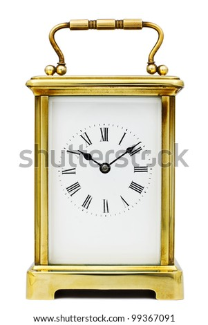 Antique Carriage Clock with Roman Numerals