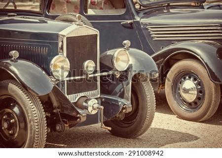 Antique cars, vintage process