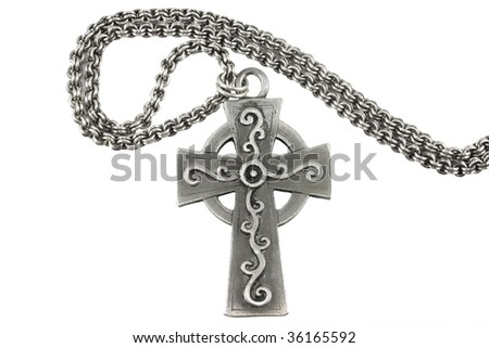 Silver Chain with Cross