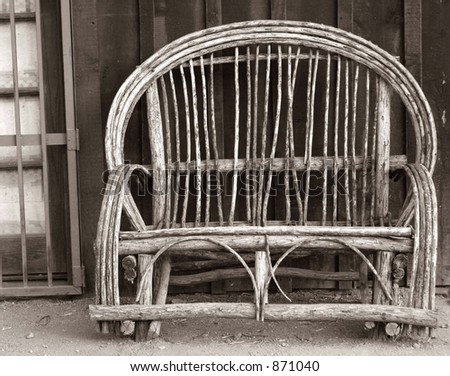 Antique Chair in Black and White