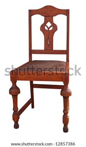 Antique Chair isolated with clipping path