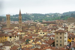 antique cityview of Florence Italy